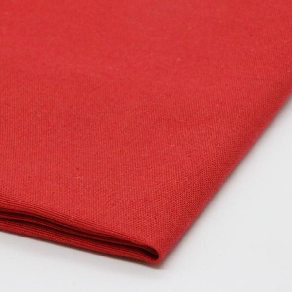 Baumwolle Uni rot