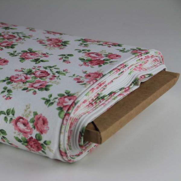 Deko Baumwolle Blumen pink