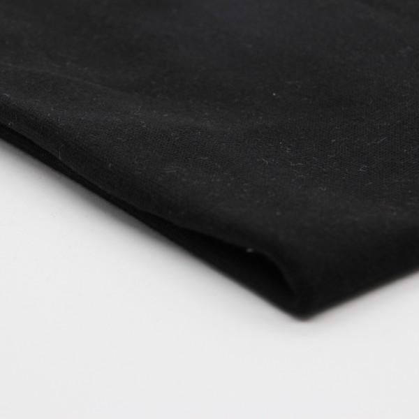 Bündchenstoff schwarz