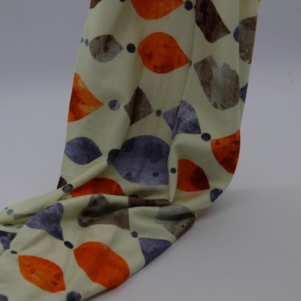 Viskosestoff elastisch orange/blau