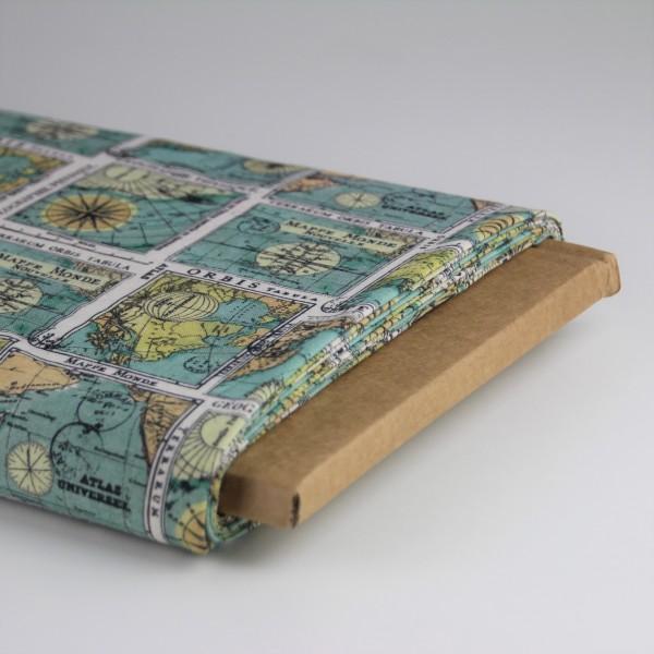 Baumwolle Weltkarte bedruckt
