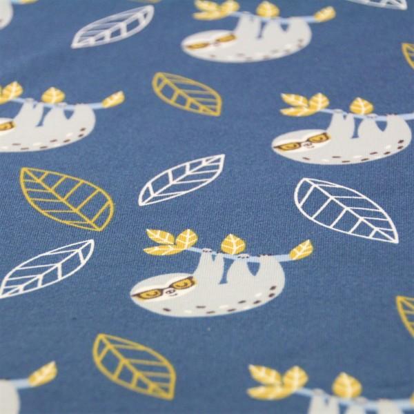 Jersey Faultiere dunkelblau