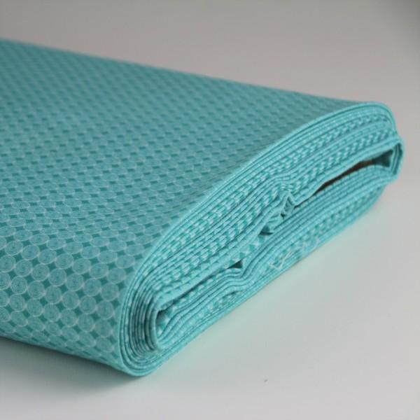 Baumwolle blau bedruckt